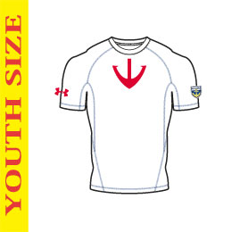 UA YAMATO BASELAYER WHT/RED【YOUTH SIZE】